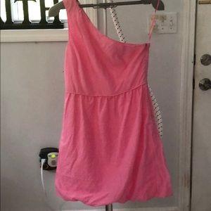 Jcrew One shoulder Party dress in pink